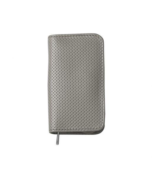 Nippes WELTENBUMMLER Maniküre-Set im Leder-Etui mit Reissverschluß, grau, 3-tlg., vernickelt