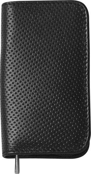 Nippes TREND-ZIP, Maniküre-Set, 3-tlg., vernickelt, Leder-Etui, Reissverschluß, schwarz