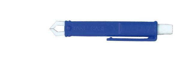 Zeckenzange Kunststoff, mit gekröpften Greifern