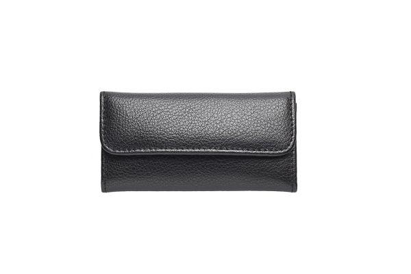 Nippes SPECIAL EDITION, Taschen-Maniküre-Set, Rindleder, 3-tlg.,schwarz, nickel