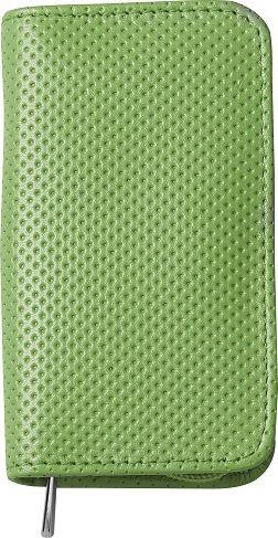 Nippes TREND-ZIP, Maniküre-Set im Leder-Etui mit Reissverschluß, grün, 3-tlg., vernickelt