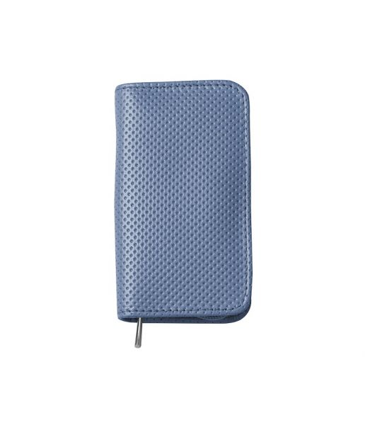 Nippes WELTENBUMMLER Maniküre-Set im Leder-Etui mit Reißverschluss, Blau, 3-tlg., vernickelt